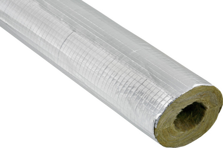 Square fireproof aluminum foil cover rock wool pipe